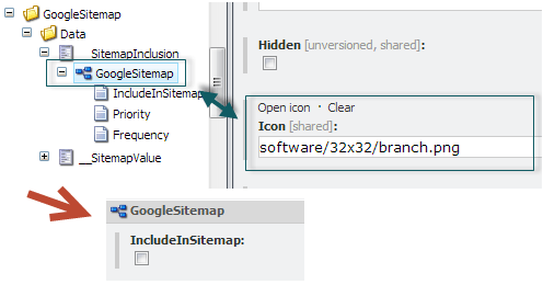 Setting an Icon on a Section