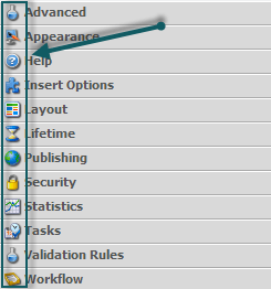 Standard Template Section icons