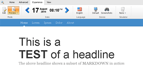 Markdown in preview mode